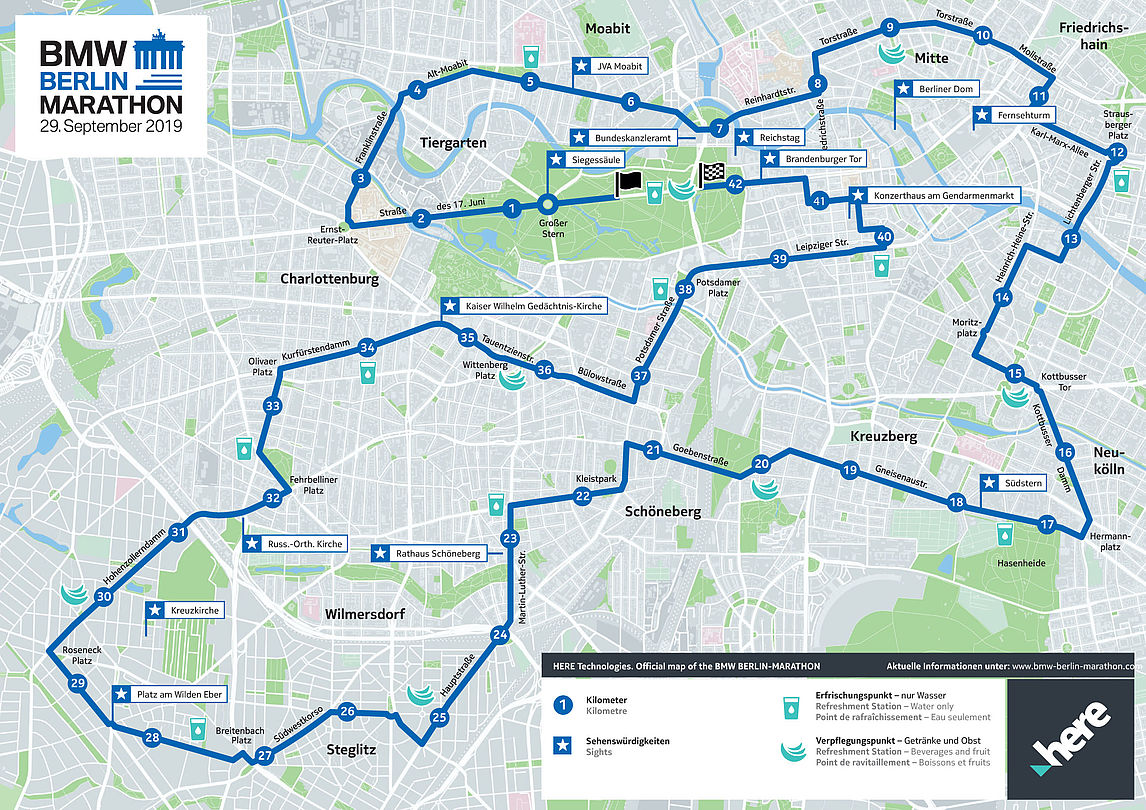 Berlin Marathon Map 2019