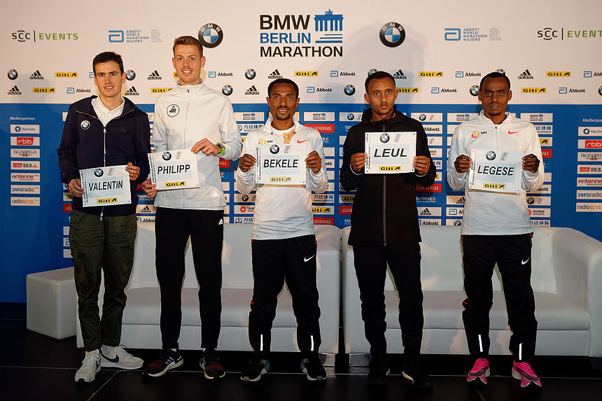 Elite Runners Men at the 2019 BMW BERLIN-MARATHON