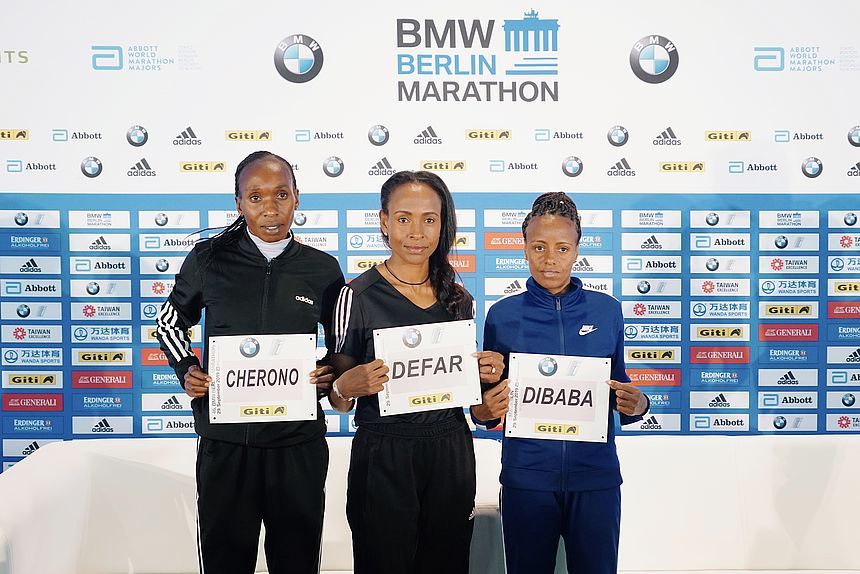 3 international female Elite Runners at the BMW BERLIN-MARATHON 2019