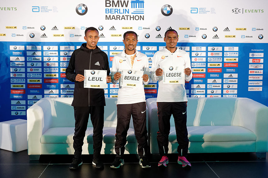 Male Elite runners at the 2019 BMW BERLIN-MARATHON