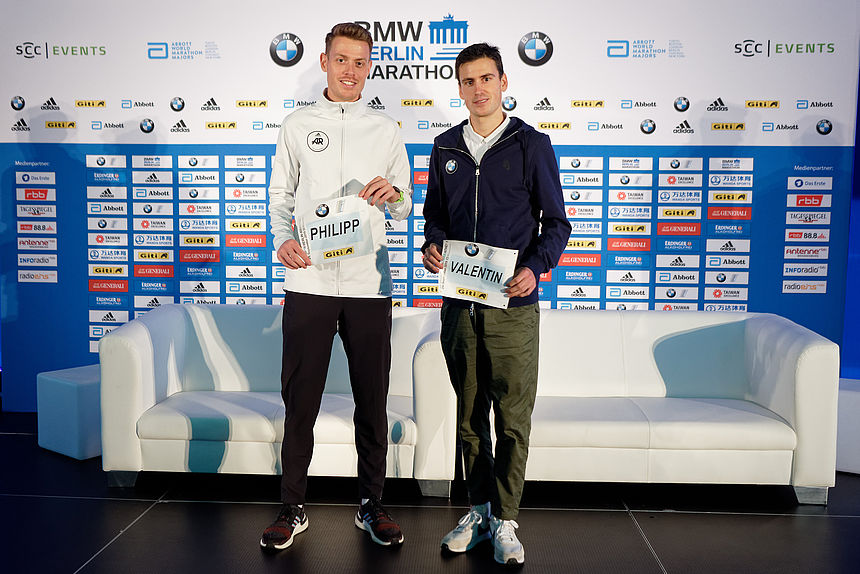 Philipp Pflieger and Valentin Pfeil are two of the male elite runnes at 2019 BMW BERLIN-MARATHON