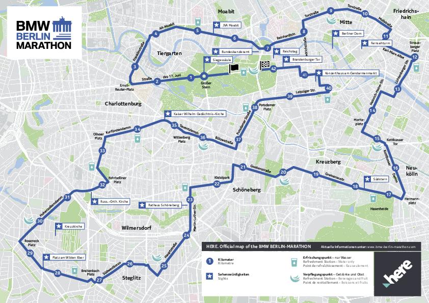 Marathon Subway Map.Bmw Berlin Marathon Course