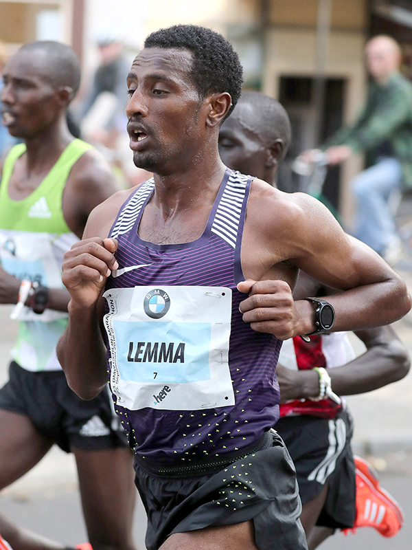 Sisay Lemma (ETH) improved his best by a big margin to 2:04:08 to finish fifth in Dubai in 2018.