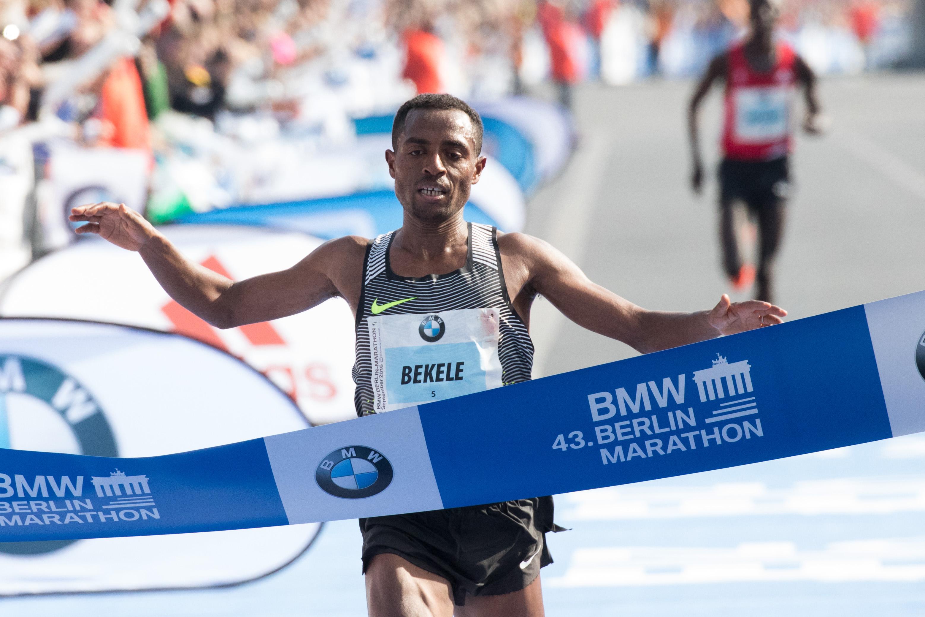 BMW BERLIN MARATHON: Kenenisa Bekele beim BMW BERLIN MARATHON